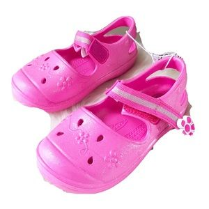 The Childrens Place Pink Rubber Mary Janes Sz 8 NW